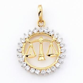 Libra Silver Pendant With American Diamonds_07