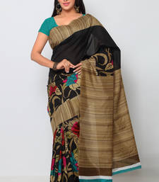 5b21a5bc3398c 54% OFF Buy black printed art silk saree with blouse great-indian-saree-festival  online
