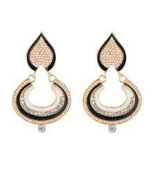 Buy Pearl Embroider Dusky Earring danglers-drop online