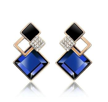 Bunch Of Shining Square Earrings