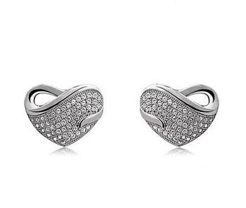 Silvery Love Earrings
