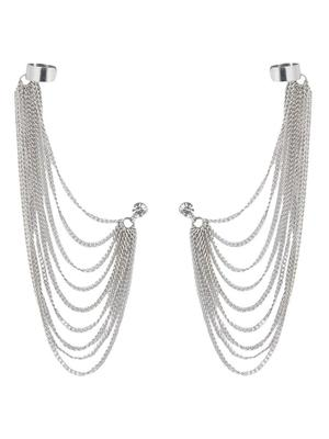 Bunch Of Falling Chains Silvery Ear-Cuff