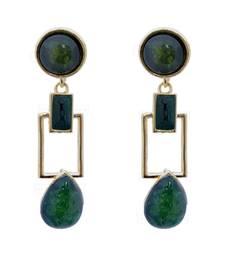 Buy Squarish Crown Flourishing Earrings danglers-drop online