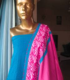 Buy Pink and Blue Kurta dupatta dress-material online