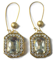Buy White Crystal Square Earring  valentine-gift online
