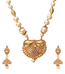 Buy Gold stone cubic zirconia necklace sets necklace-set online