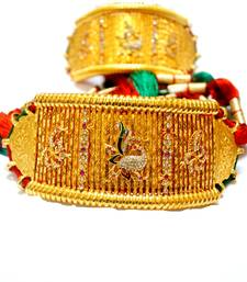 Buy Traditional pair of peacock bajuband or armlet with big loom attached at wholesale price bajuband online