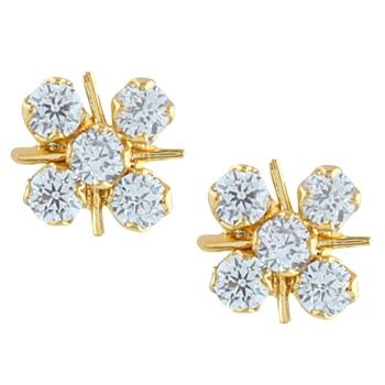 White american diamonds earrings