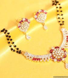 Buy Red ruby fine diamond mangalsutra mangalsutra online