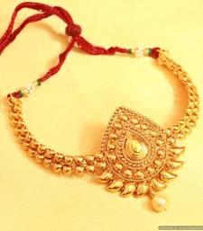 Antique Gold Look Paisley Bajuband