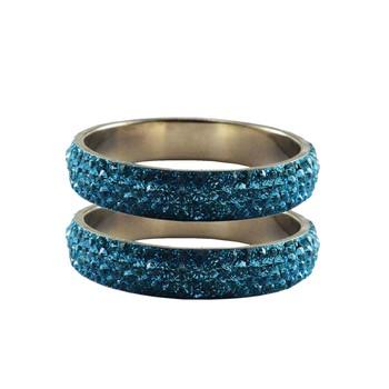 Blue Studded Jewellery Crystal Bangles And Bracelets