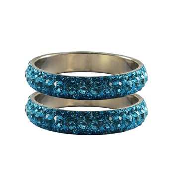 Blue Studded Jewellery Crystal Bangles And Bracelets