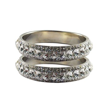 Silver Studded Jewellery Crystal Bangles And Bracelets