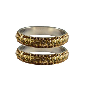 Gold Studded Jewellery Crystal Bangles And Bracelets