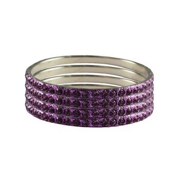 Purple Studded Jewellery Crystal Bangles And Bracelets