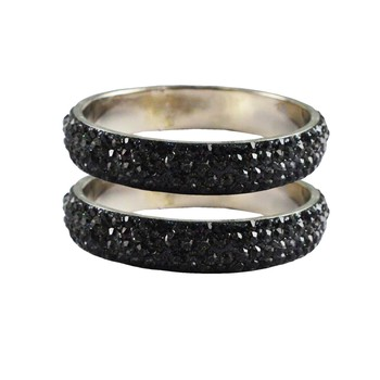 Grey Studded Jewellery Crystal Bangles And Bracelets