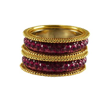 Pink Studded Jewellery Crystal Bangles And Bracelets