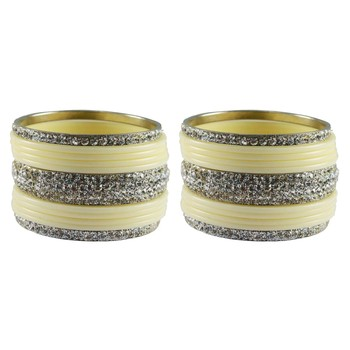 White Studded Jewellery Crystal Bangles And Bracelets