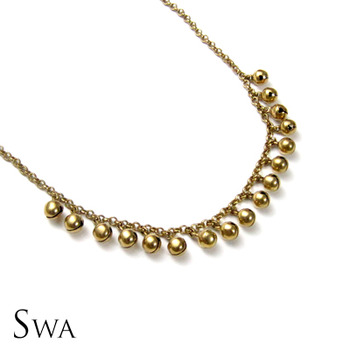 Simple Gold tone ghungroo necklace