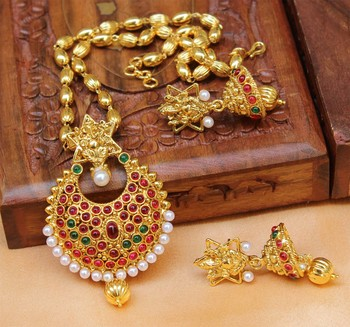 Multicolor Gold Plated Agate Necklace Set