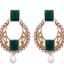 Buy Oval &  Pearls drop earringns danglers-drop online