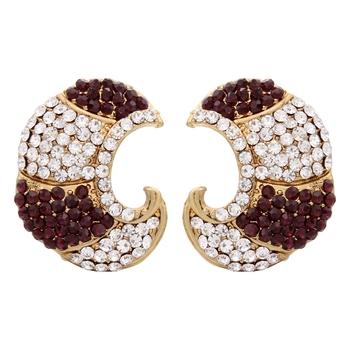 Purple Carving Earrings