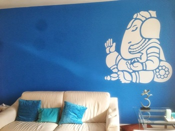 Large Ganesha Wall Decal Ethnic Indian