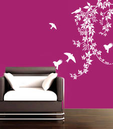 Small Birds on vines wall decal