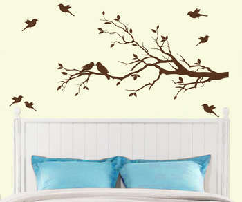 Small Birds on Branches wall decal Nature