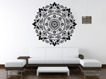 Large Scroll Traditional Circle Ethnic Indian