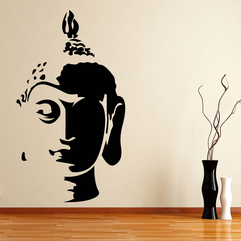 Buy Small Buddha Face Wall Decal Ethnic Indian Online