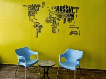 Large Jumbled Nations Wall Decal Modern Graphic