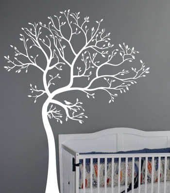 Large Tree Of Spring Wall Decal Nature