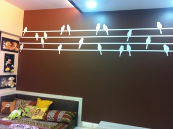 Small Birds in a Row Wall Decal Nature