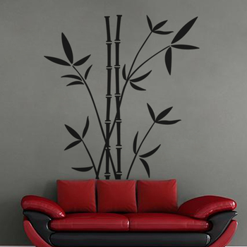 Large Bamboo Shoot Wall Decal Nature