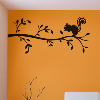 Large Cute Squirrel Wall Decal Nature