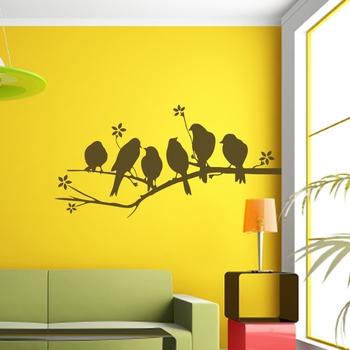 Medium Flock Of Birds Wall Decal Nature