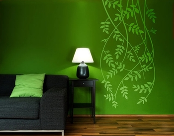 Small Drooping Vines Wall Decal Modern Graphic