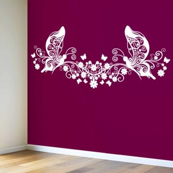 Medium Butterflies And Blooms Modern Graphic