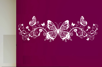 Large Beautiful Butterflies Wall Decal Modern Graphic