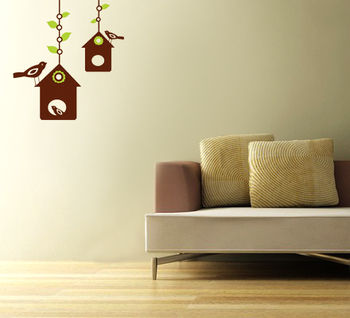 Small Bird House Wall Decal Nature