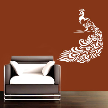 Small Pretty Peacock Wall Decal Birds and Animal