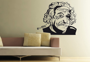 Small Albert Einstein Wall Decal Modern Graphic