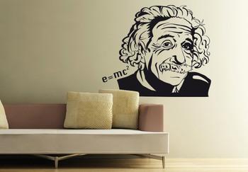 Large Albert Einstein Wall Decal Modern Graphic