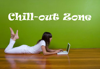 Large Chill Out Zone Wall Decal Quotes