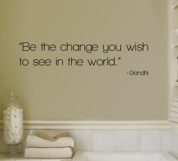Large Be The Change Wall Decal Quotes