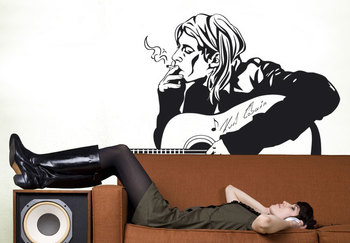Small Kurt Cobain Wall Decal Modern Graphic