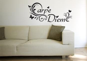 Small Capre Diem Wall Decal Modern Graphic