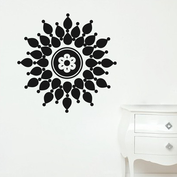 Medium Droplet Flower Wall Decal Modern Graphic