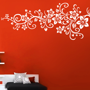 Large Flora Vine Wall Decal Modern Graphic